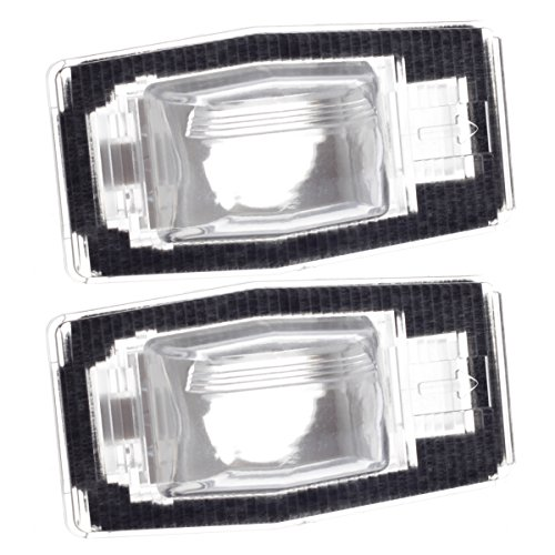 HERCOO License Plate Light Lamp Lens Aftermarket Replacement for Mazda Miata MPV Protege Tribute (Qty:2) -