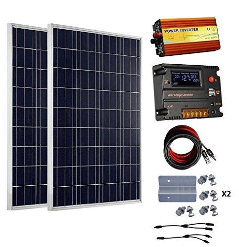 Eco Worthy 200 Watt 2pcs 100 Watt 12v Solar Panel Kit