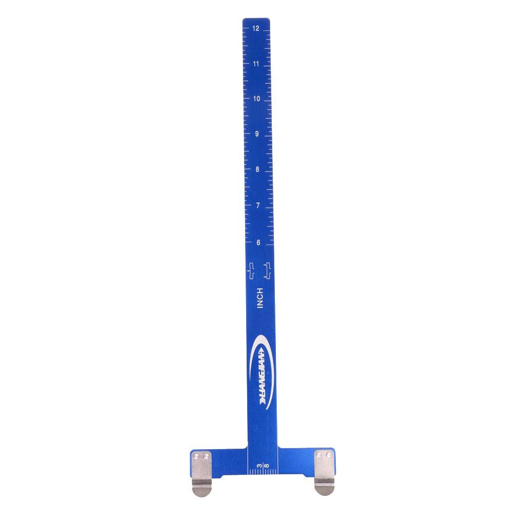 MagiDeal 1 Pc de Escala Medida de Caza Disparo Forma T Cuadrado Marcador Accesorios Deportivo Aleación de Aluminio Azul Durable Flexible