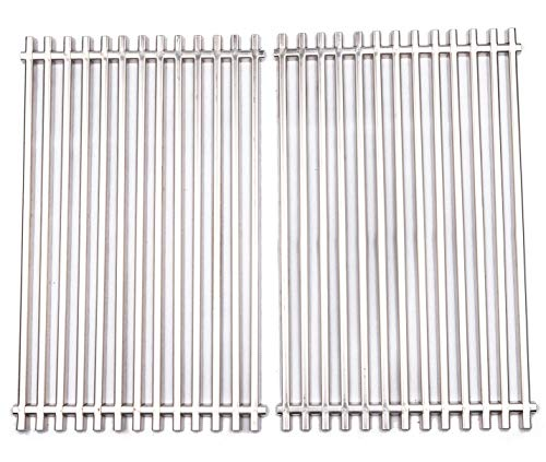 (BBQ funland 7527 9869 7526 7525 Stainless Steel Replacement Cooking Grate for Weber 7527, Lowes Model Grills, Set of 2)