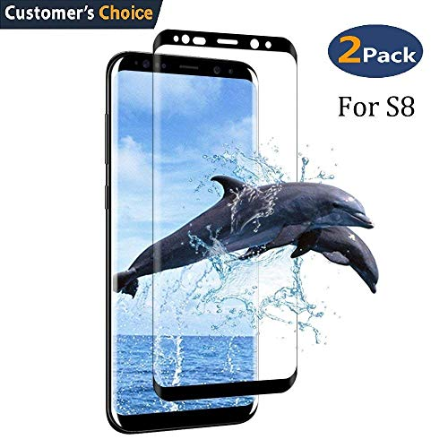 Galaxy S8 Plus Tempered Glass Screen Protector,[2-Pack]-9H Hardness,Anti-Fingerprint,Ultra-Clear, Full Coverage,Bubble Free Screen Protector for Galaxy S8 Plus