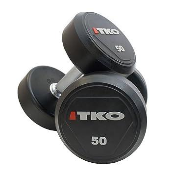 TKO - 2 mancuernas par 40 kg, uretano cabezas revestidas, de acero ...