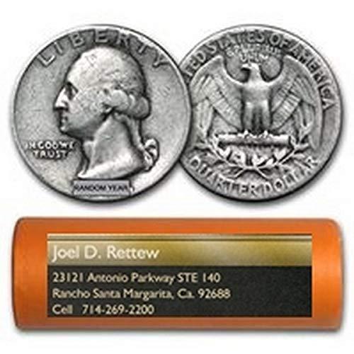 - 1957 P Washington 90% Silver Quarter Roll 40ct ($10 Face) Brilliant Uncirculated