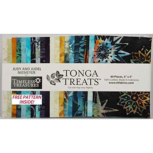 Judy & Judel Niemeyer Tonga Treats Batiks Lakeshore 40 5-inch Squares Charm Pack Timeless Treasures