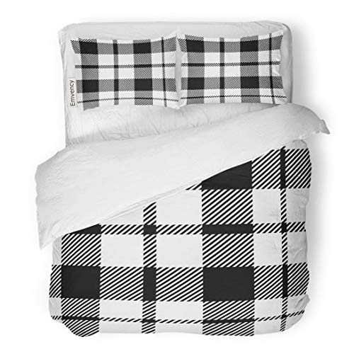 Tarolo Bedding Duvet Cover Set Tartan Pattern Scottish Traditional White on Suitable for Children Home Handicraft Scrap Booking 3 Piece Twin 68