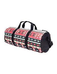 Gym Bag Shoulder Sport Duffle Luggage Duffel Overnight Travel Vacation Barrel Aztec dots [43]
