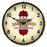 Barber Shop 2 14″ Lighted Wall Clock For Sale