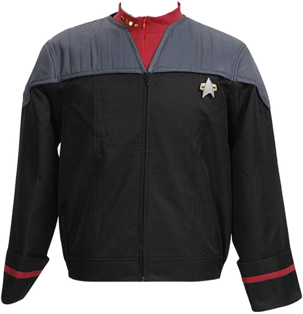 Wolfbar Men's Nemesis Voyager Captain Sisko Jacket Uniform Halloween Costume
