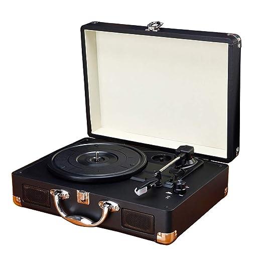 Cpjac Tocadiscos Fonógrafo Retro portátil multifunción Disco ...