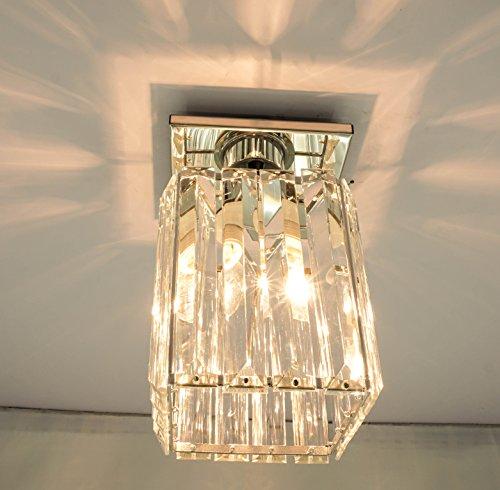 Agnes Lighting Crystal Ceiling Lamp, Chandelier, 1 Light, W5.12''L5.12 H8.27'' by Agnes Lighting (Image #1)