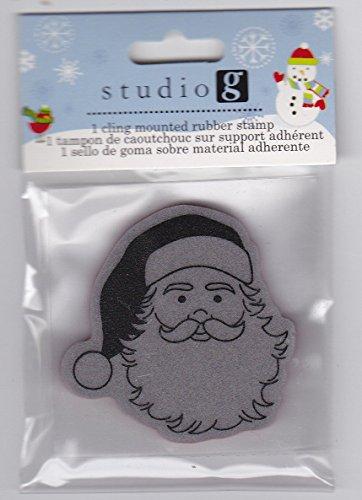 Studio G Cling Stamp Set Christmas - SANTA CLAUSE Face