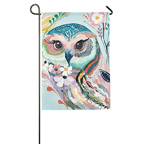 NOAID Lady Owl Home Garden Flags Summer Decorative Garden Flags -