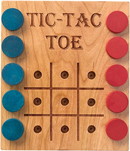 Deluxe Cherry Tic-Tac-Toe Game - Made in USA (Deluxe Maple)