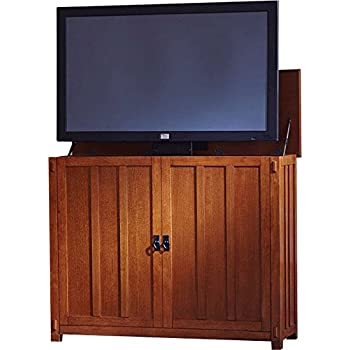 Bon Touchstone 72006 Elevate Mission TV Lift Cabinet For TVs Up To 50 Inches,  Whisper Lift (Mission Oak)