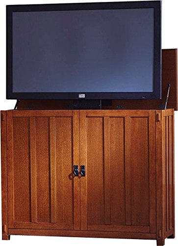 Touchstone 72006 Elevate Mission TV Lift Cabinet For TVs Up To 50 inches, Whisper Lift (Mission Oak)