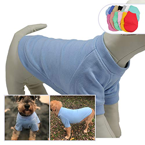 - lovelonglong 2019 Dog Pullover Sweatshirt Autumn Winter Cold Weather Dog T-Shirts for Small Medium Large Size Dogs Toy Poodle Clothes