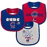 Chicago Cubs Outerstuff Newborn 3 Piece Bib Set