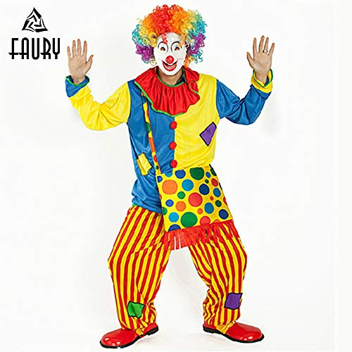 SYH01 2018 Clothes Funny Halloween Cosplay Costume Show Make-Up Dance Clown Suit -