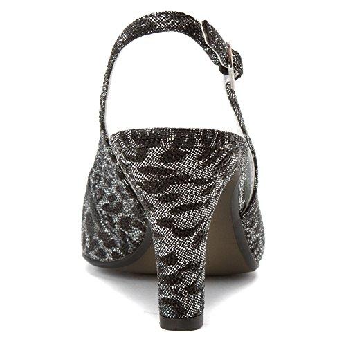 Zapato De Encaje David Tate Para Mujer Leopardo Negro