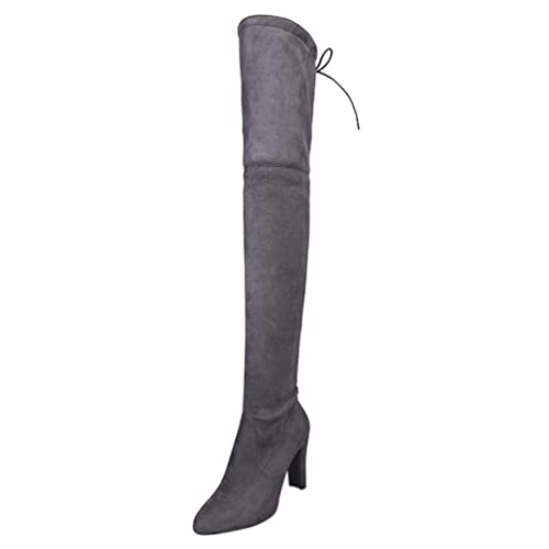 Slim Overmal Knie Stiefel Stretch High Über 0wnOkPXN8