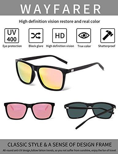 Bevi Unisex Polarized Sunglasses Wayfarer UV400 Brand Designer Sun glasses 0733C8BKPK by Bevi (Image #3)