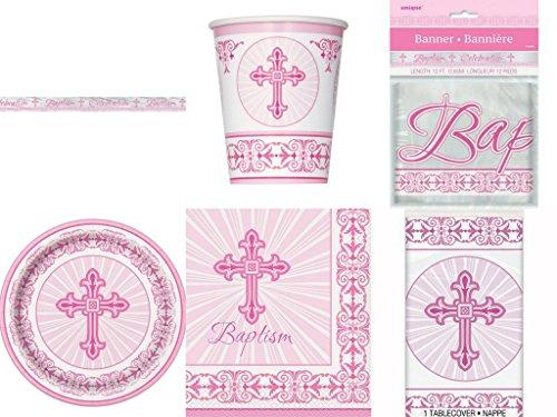 Radiant Cross Ensemble - Baptism - Bundle Serves 8 (Pink)