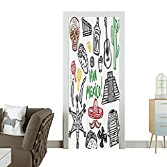 These amazing door stickers offer many advantages that help you make your home more beautiful, beautify your doors in a decorative style. And it can be attached to almost all smooth surfaces, doors, walls, windows metal and glass.The sticker ...