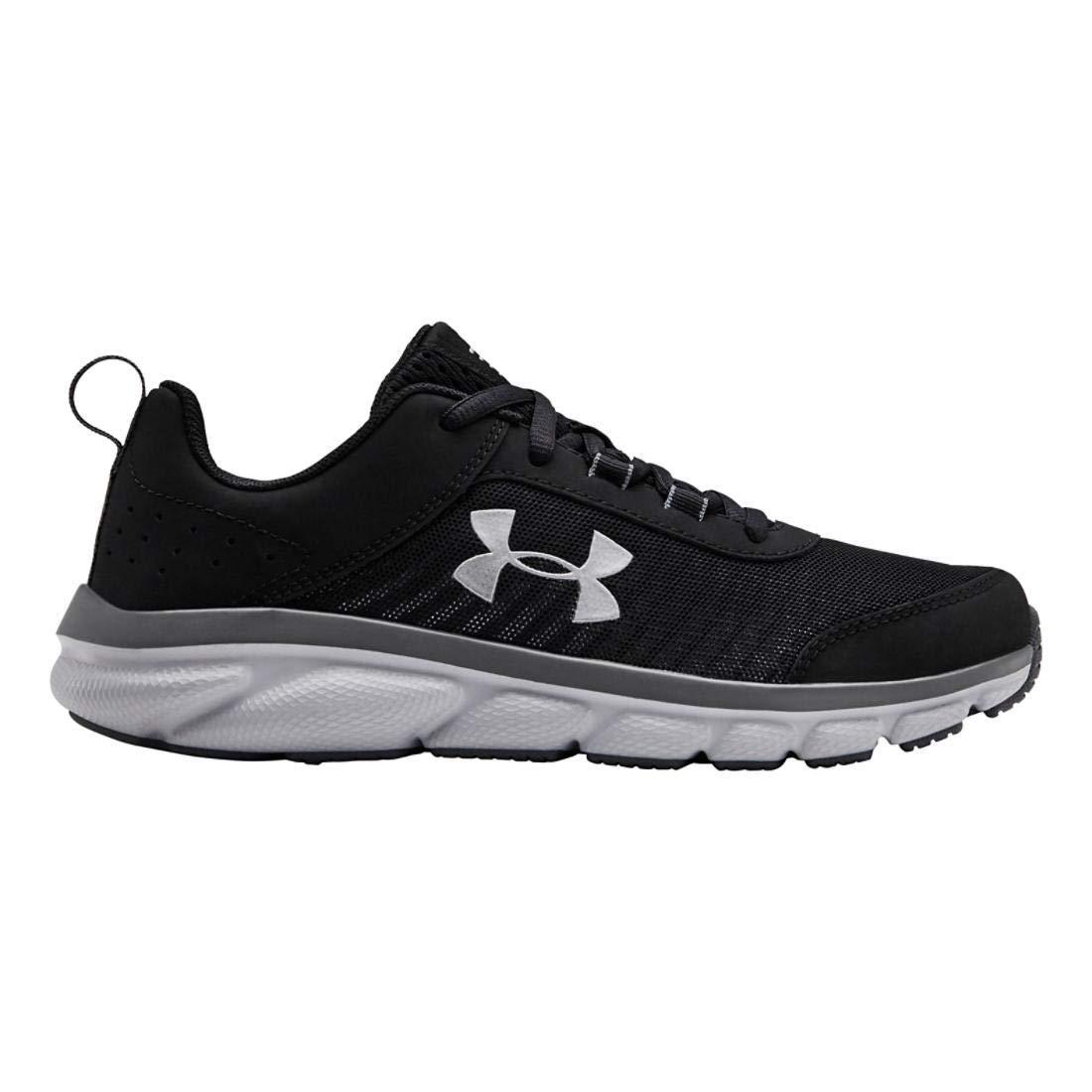 Under Armour Kids' Grade School Assert 8 Sneaker, Black (001)/Pitch Gray, 6