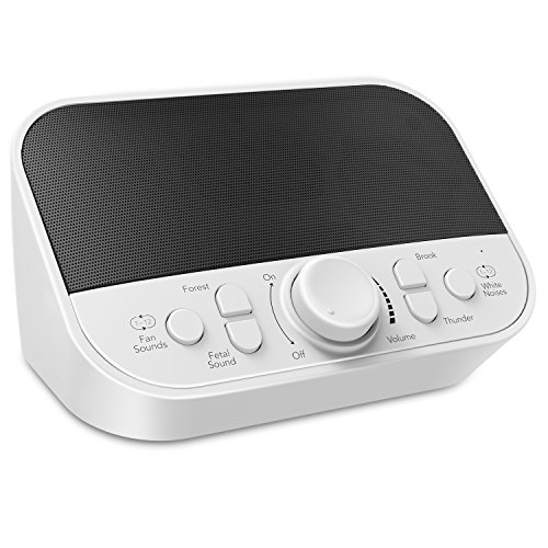 White Noise Machine for Baby, LATOW 28 Soothing Sleep Sound Machine, Womb Sound for Newborns, 2 Speakers, Auto-Off Timer, Headset Jack, Sound Spa for Kids Adults Travel Office Home ()