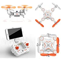 DZT1968 M1 Mini Foldable 2.4G 4CH 6Axis RC A key return M1 RC 4 Channel Quadcopter Drone HD FPV 3MP