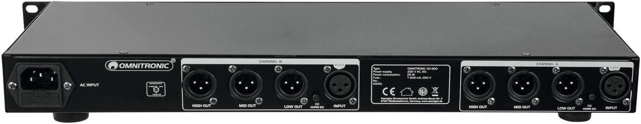 OMNITRONIC XO-300 Active Crossover