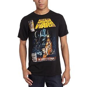 Star Wars Men's Saga Continues Comic Book Cover T-Shirt,Black,Medium