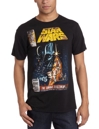 Star Wars Men's Saga Continues Comic Book Cover T-Shirt