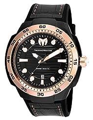 Technomarine Men's TM-515008 Sun Reef Analog Display Swiss Quartz Black Watch by TechnoMarine