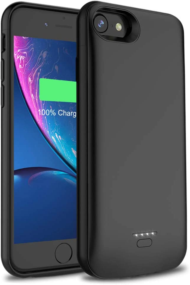 Premium Full Protection Battery Case Compatible with iPhone 8 7 6S 6 5000 mAh Extended Battery Pack Power bank Charger Case Full Protective Case Slim Comfortable Black, iPhone 6 6S 7 8 //4.7 inch
