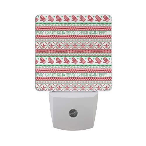 Christmas Knit Blanket Latest Multi-Color Power-Saving Adjustable Automatic Off Bedroom LED European Standard Night Light
