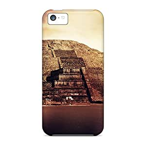 Iphone 5c Hard Back With Bumper Silicone Gel Tpu Case Cover Teotihuacan