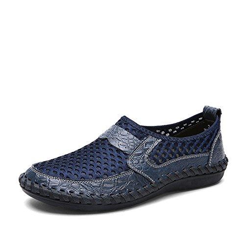 (Men's Breathable Sports Casual Shoes, Wave Slacker Mesh Pedals Shoes Peas Shoes)