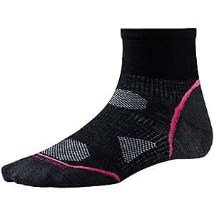 Smartwool Womens PhD Cycle Ultra Light Mini Socks (Black/Punch) Small - Past Season -