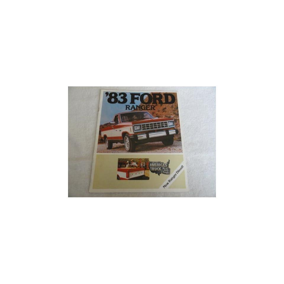 1983 Ford Ranger Truck Sales Brochure