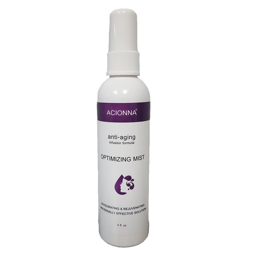 Acionna Optimizing Mist 4oz - Anti-Aging Infusion Formula- Invigorating and Rejuvinating- Universally Effective Solution