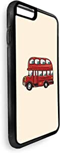 Printed Case for iPhone 7, bus with Two roles