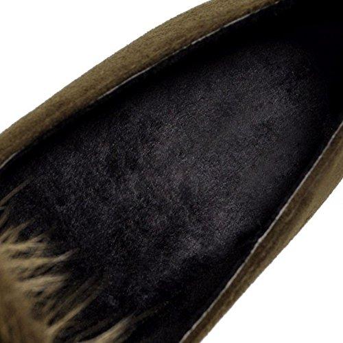 Chaussures Automne RAZAMAZA a Camel Femmes Enfiler 7AEq1gWp