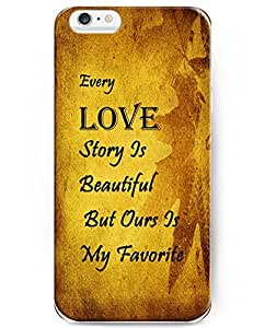 UKASE iPhone 6 Case (4.7 inch) - Bible Verse Christian Quote - Every Love Story Is Beautiful, But Ours Is My Favorite by mcsharks
