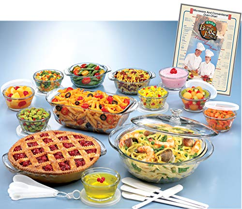 Anchor Hocking Expressions Glass Cookware, 33-Piece Set