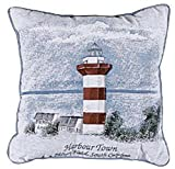"""Harbour Town"" Hilton Head, SC Lighthouse Throw Pillow 17"" x 17"""