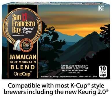 San Francisco Bay Coffee OneCup Keurig K-cup 20 ct. Jamaican Blue Mountain Blend