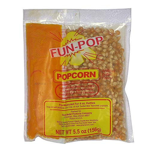(Gold Medal Fun-pop Popcorn Kit with coconut oil(Net weight 5.5 oz.) - 36 pk)