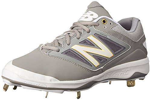 New Balance Mens L4040V3 Cleat Baseball Shoe, Gris/Blanco, 40 EU/6.5 UK
