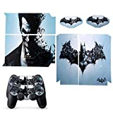 Batman Decal Skin Sticker Black For PS4 Console 2 Controllers